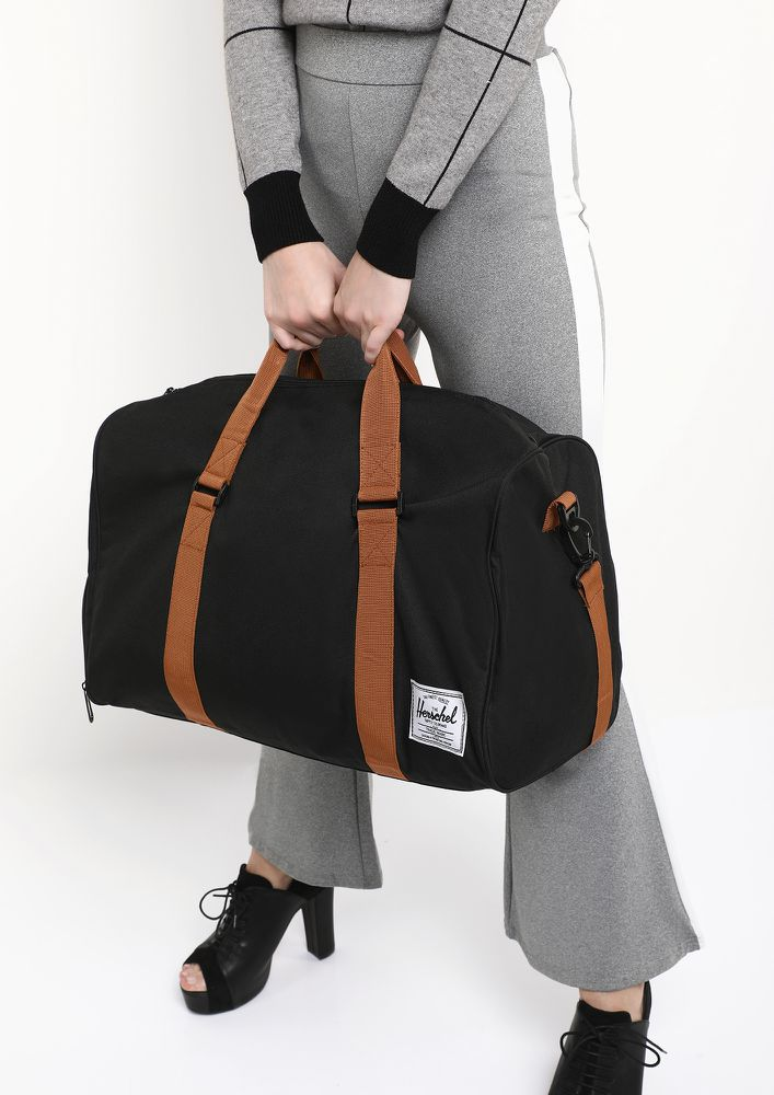 ALL WORKED UP BLACK DUFFLE BAG