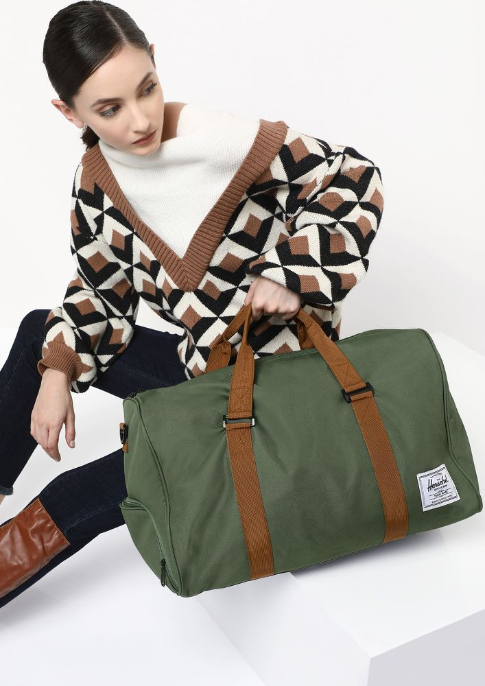 ALL WORKED UP GREEN DUFFLE BAG