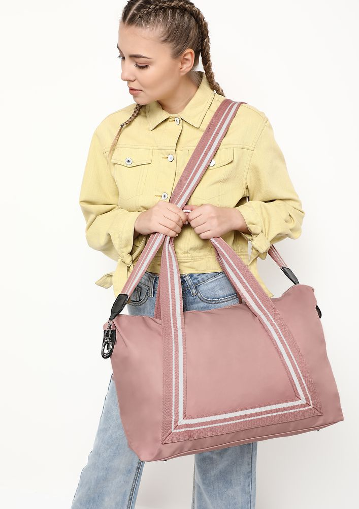 ALWAYS HANDY PINK DUFFLE BAG