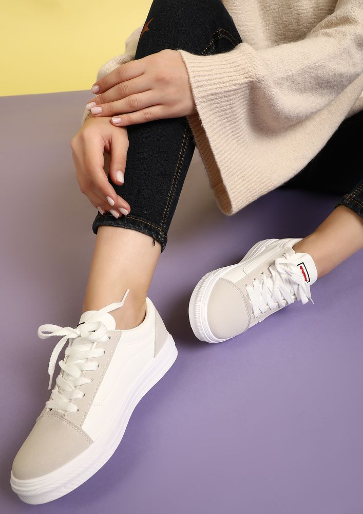 ALWAYS SPORTY COOL GREY WHITE SNEAKERS