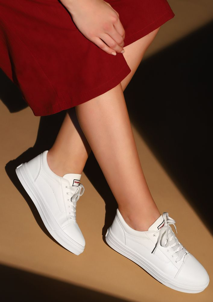Buy ALWAYS SPORTY COOL WHITE SNEAKERS