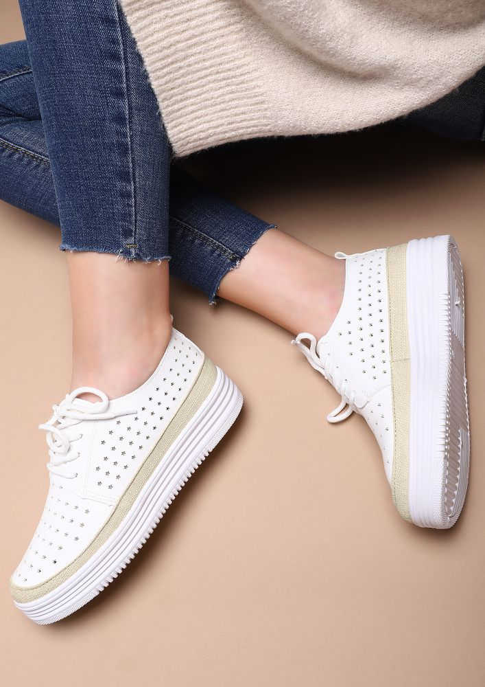 SHOW ME SOME STARS WHITE CASUAL SHOES