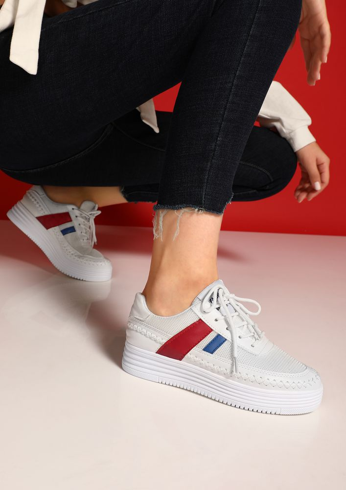 SEE YOU ON-THE-FIELD RED STRIPED TRAINERS