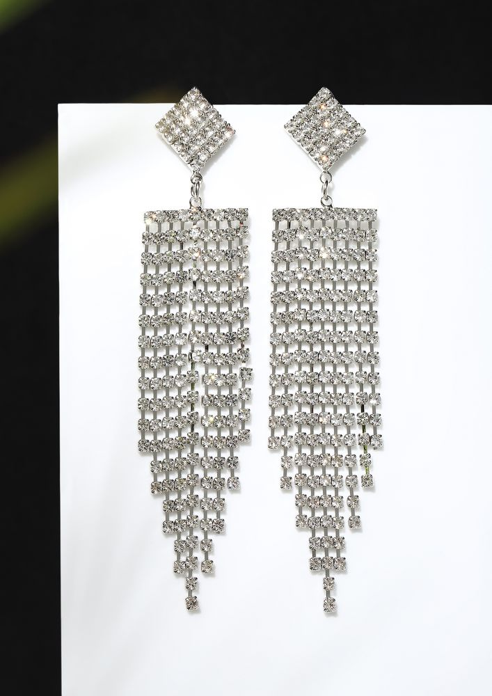 GOSS BABE PIECE OF CHANDELIER SILVER EARRINGS