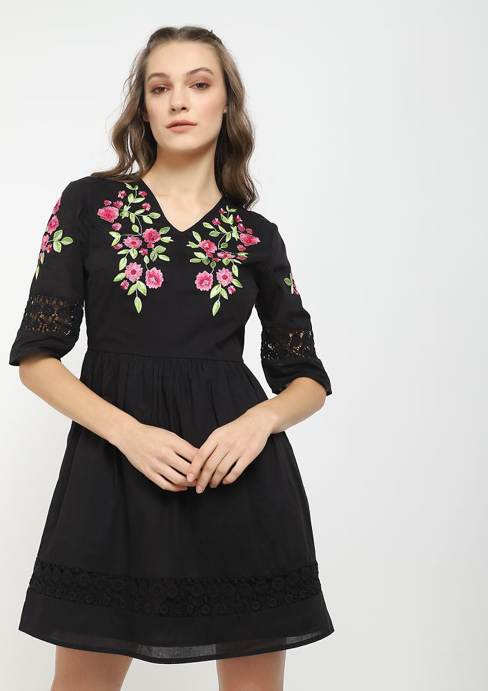 NOTHING LEFT TO SAY BLACK SKATER DRESS