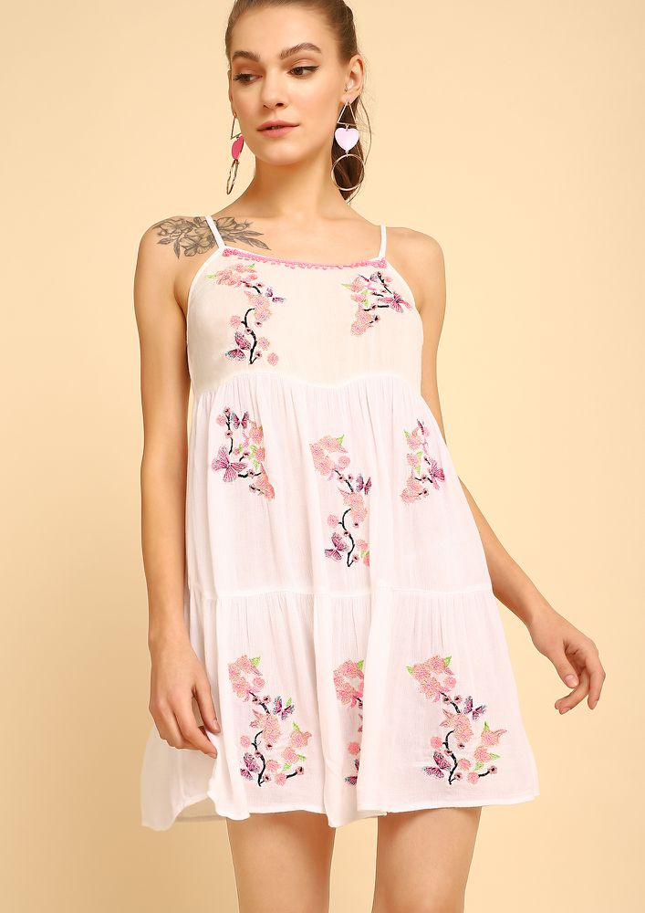 LOVE AT FIRST SIGHT IVORY SKATER DRESS