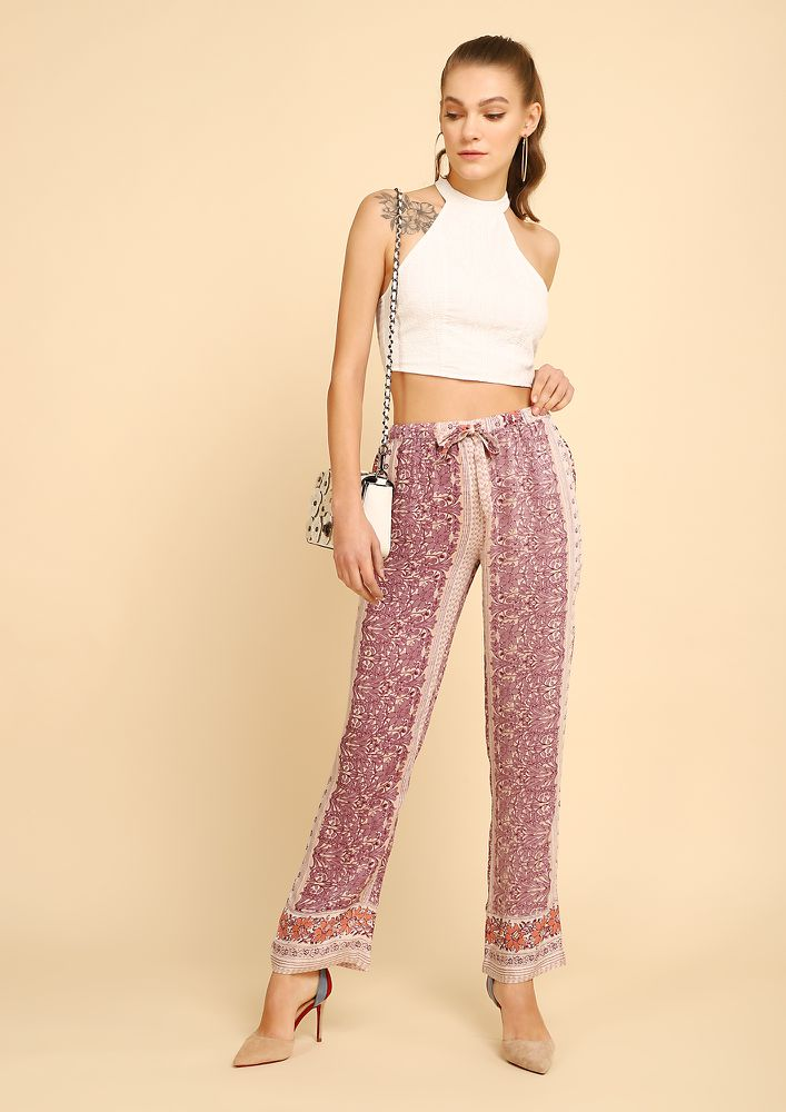 PRINT ME PERFECT MULTICOLOR PALAZZOS