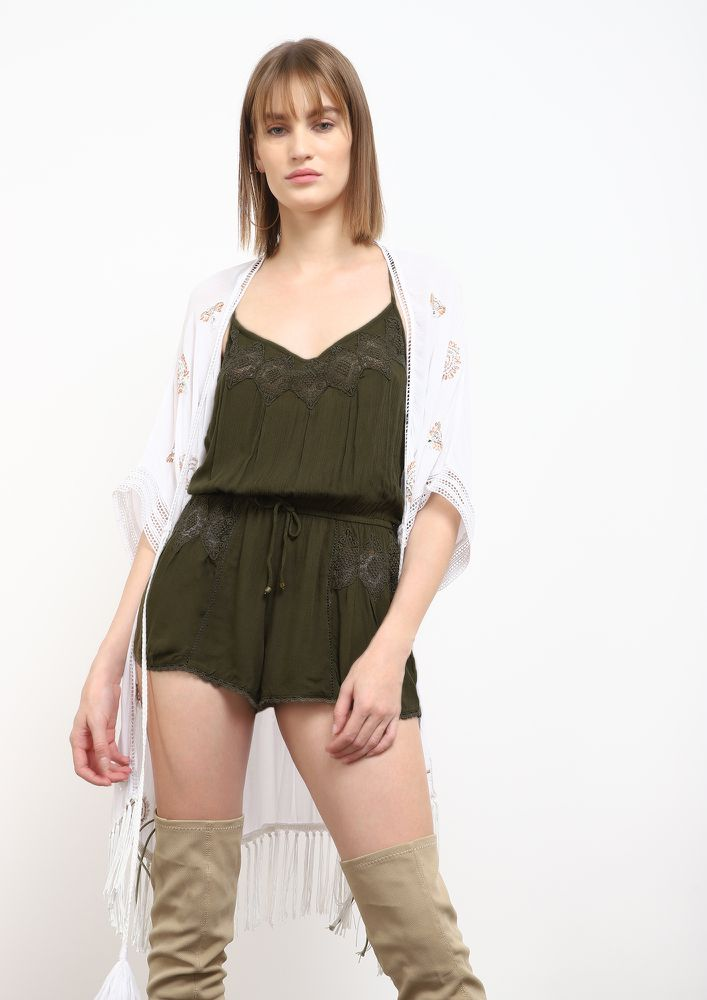 ENVY IS GREEN ROMPER