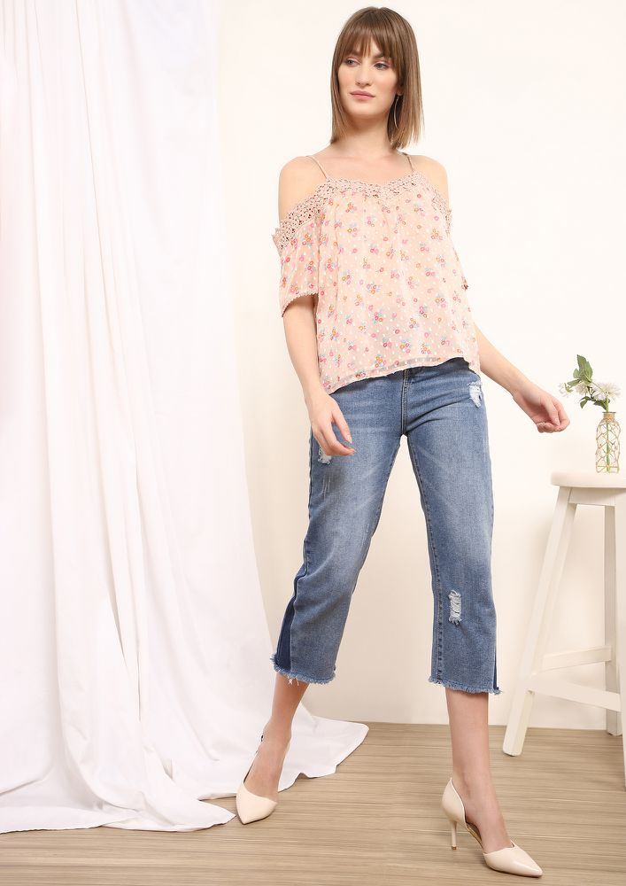 BEEN A GOOD DAY PEACH BLOUSE