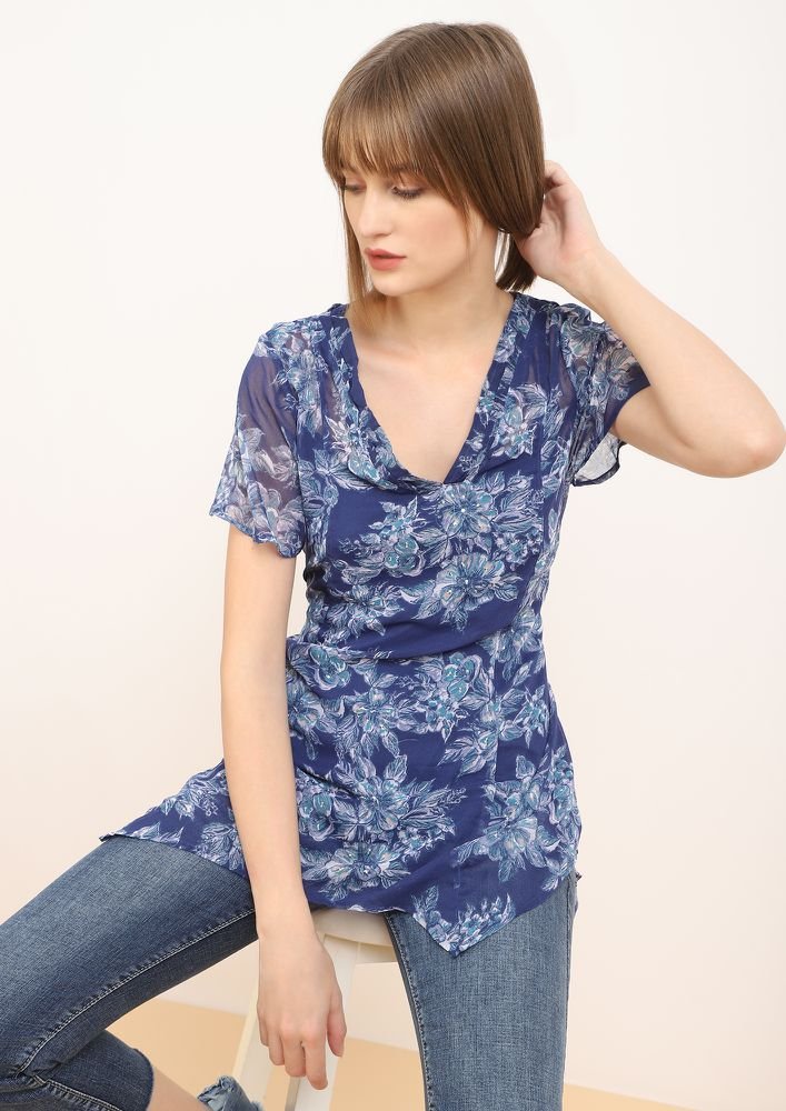 FEELING BLUE TUNIC TOP