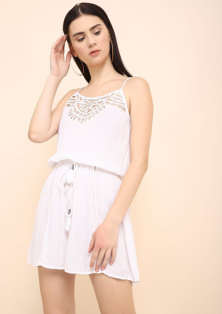 A LIL AFFECTIONATE WHITE TUNIC DRESS