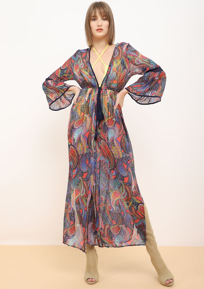 SLEEPY DAZE MULTICOLOURED MAXI DRESS