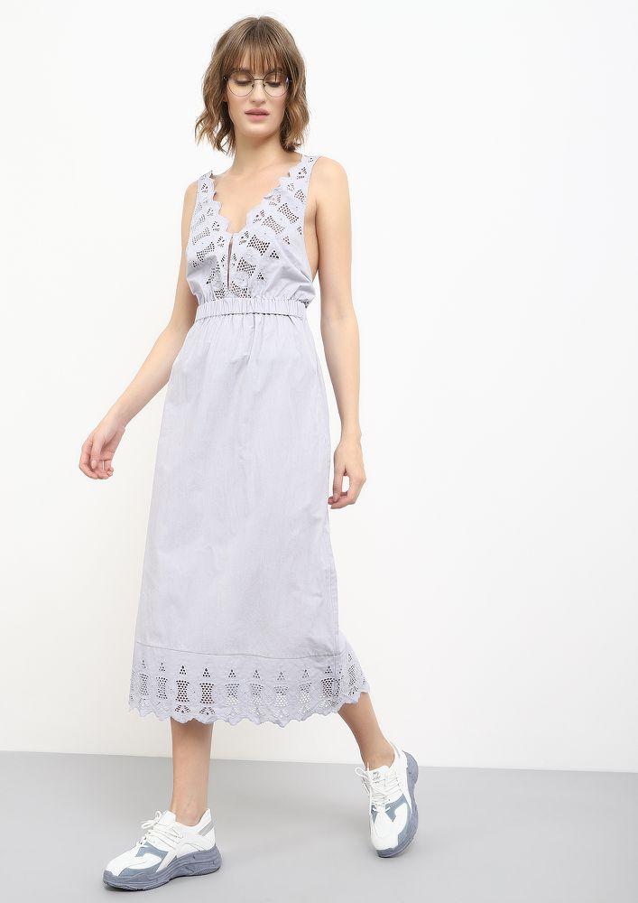 TURNING BACK ON YOU BLUE MIDI DRESS