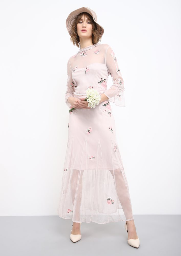 ALWAYS AFTER PRETTY THINGS PINK MAXI DRESS