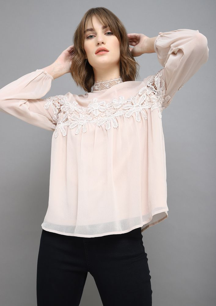 NOTHING BUT ON-POINT BLUSH PINK BLOUSE