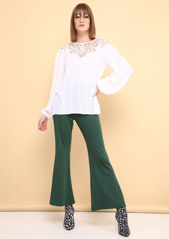 GIRL BOSS WHITE BLOUSE