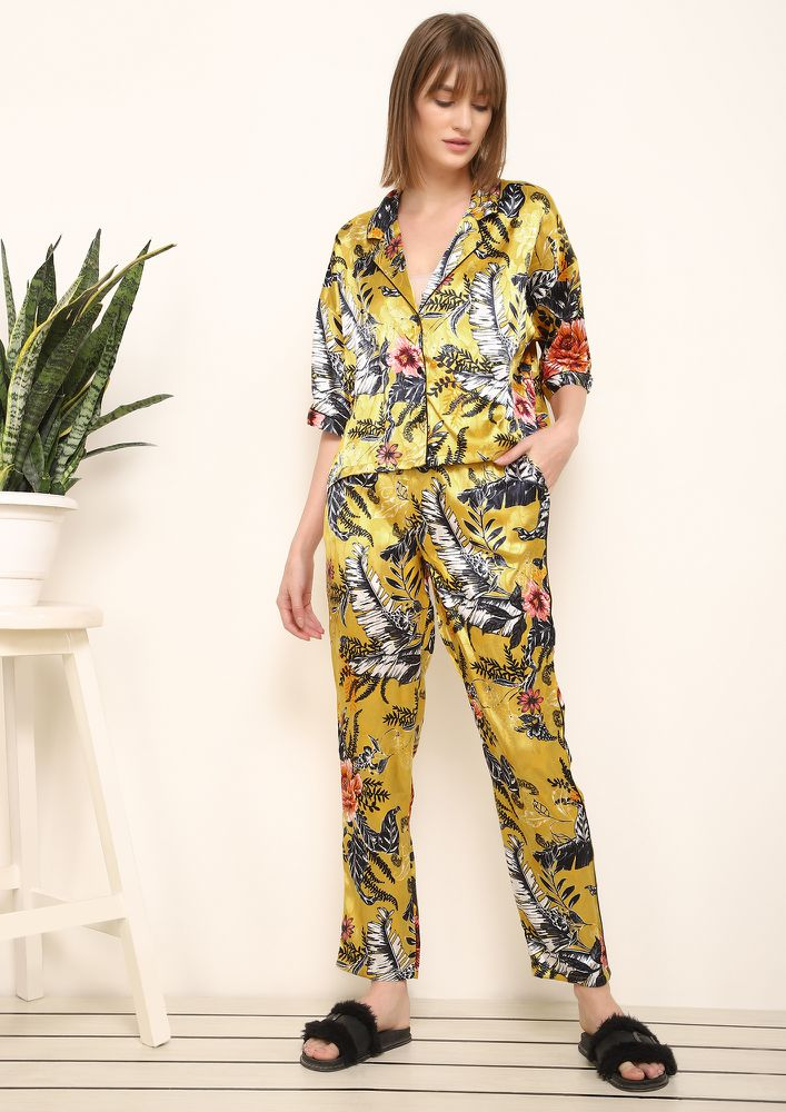 SAVING ENERGY YELLOW NIGHTWEAR SET