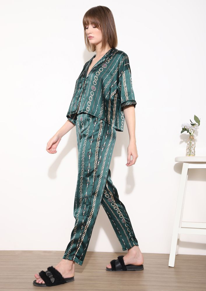 BEAUTY SLEEP GREEN NIGHTWEAR SET