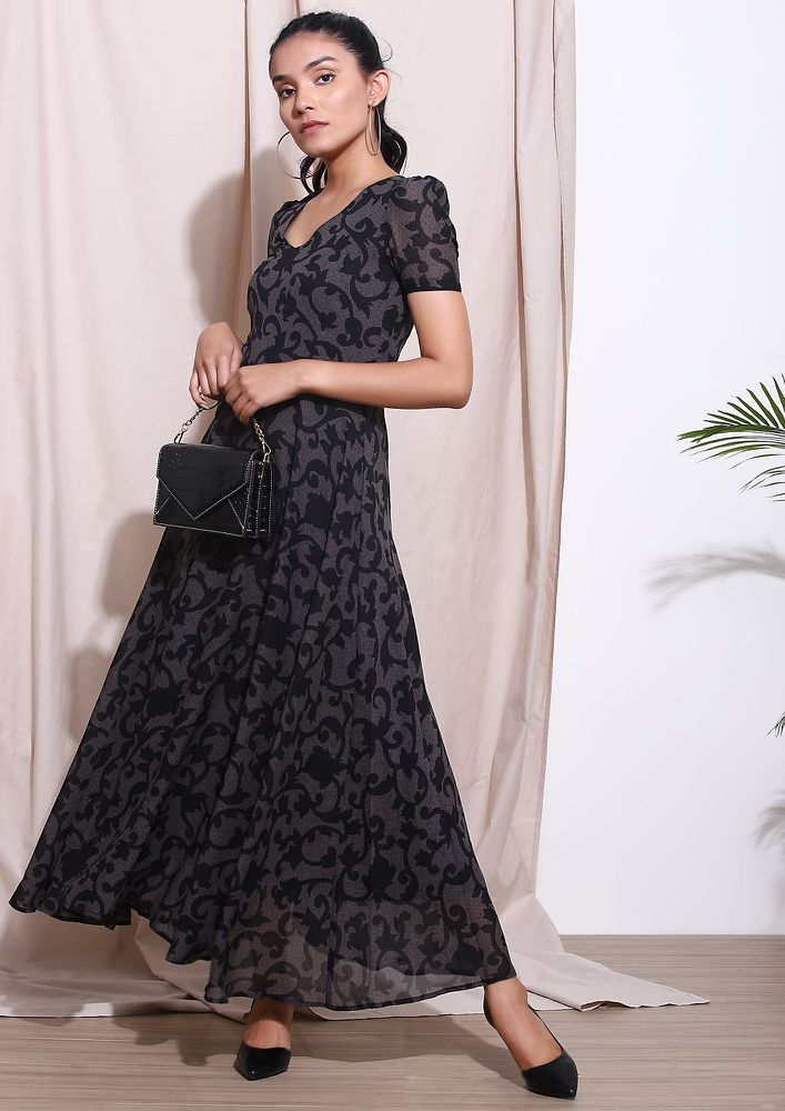 THE SUAVE SQUAD BLACK MAXI DRESS