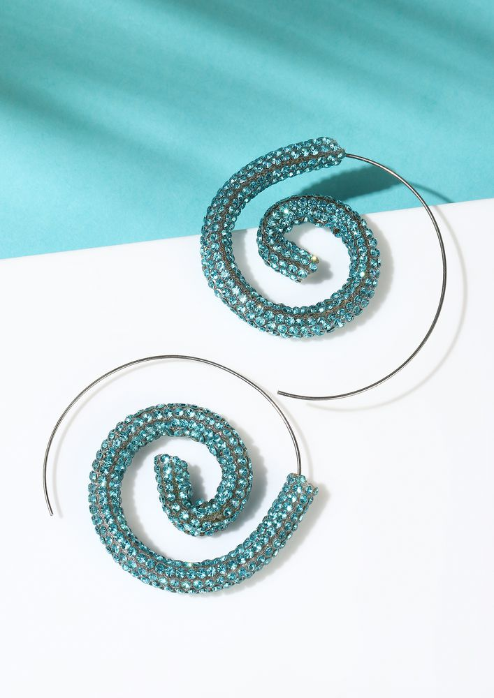 GOSS BABE MAGIC SPIRALS TURQUOISE EARRINGS