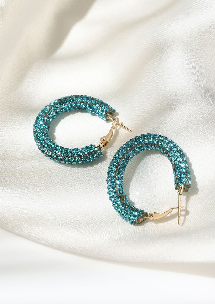 GOSS BABE DON'T DIM MY SPARKLE TURQUOISE EARRINGS