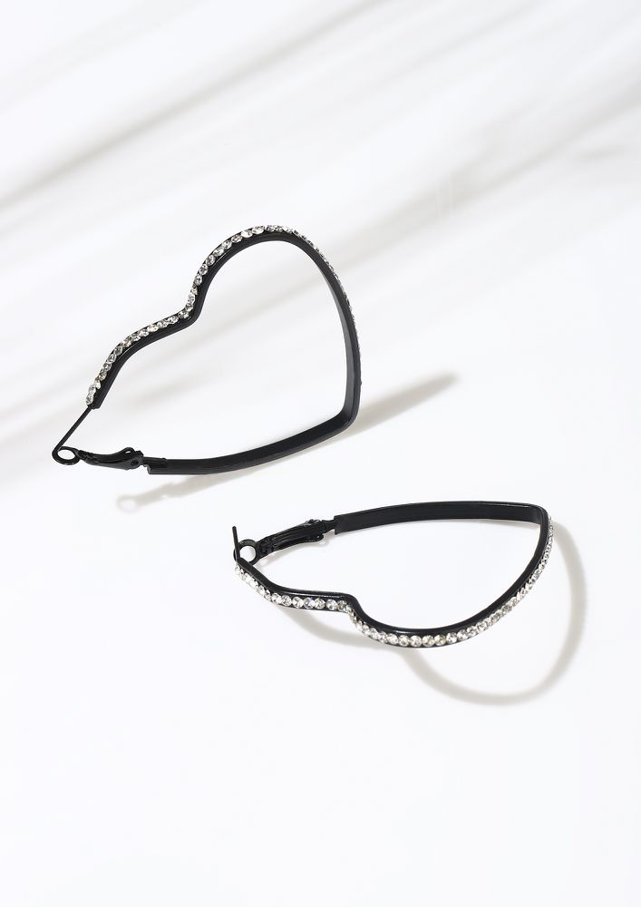 GOSS BABE TRUE BONDS BLACK EARRINGS