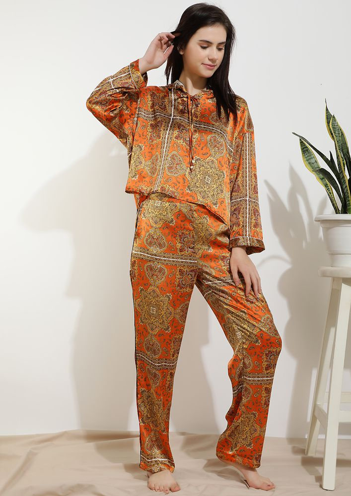 LET ME TAKE A NAP ORANGE SLEEPWEAR SET