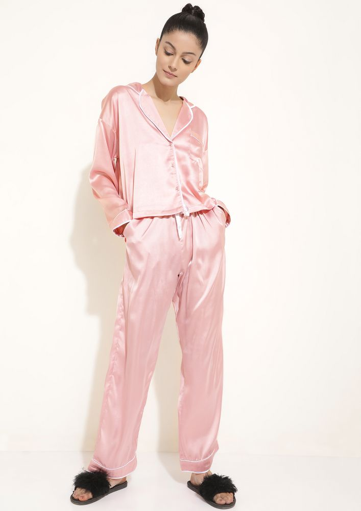 LIKE A FEATHER TOUCH BLUSH SLEEPWEAR SET