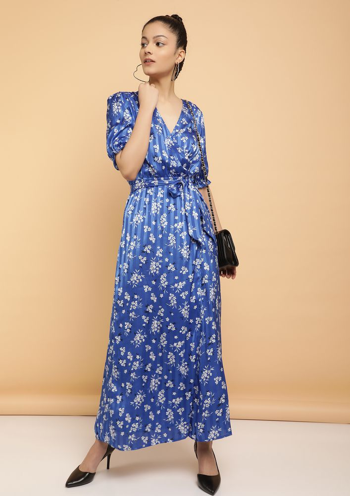 HITTING THE STREETS NOW BLUE MAXI DRESS