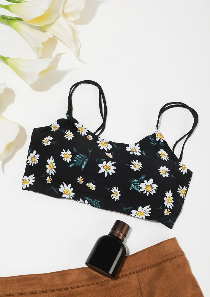 LIGHTLY PADDED BRA IN A FLORAL PRINT