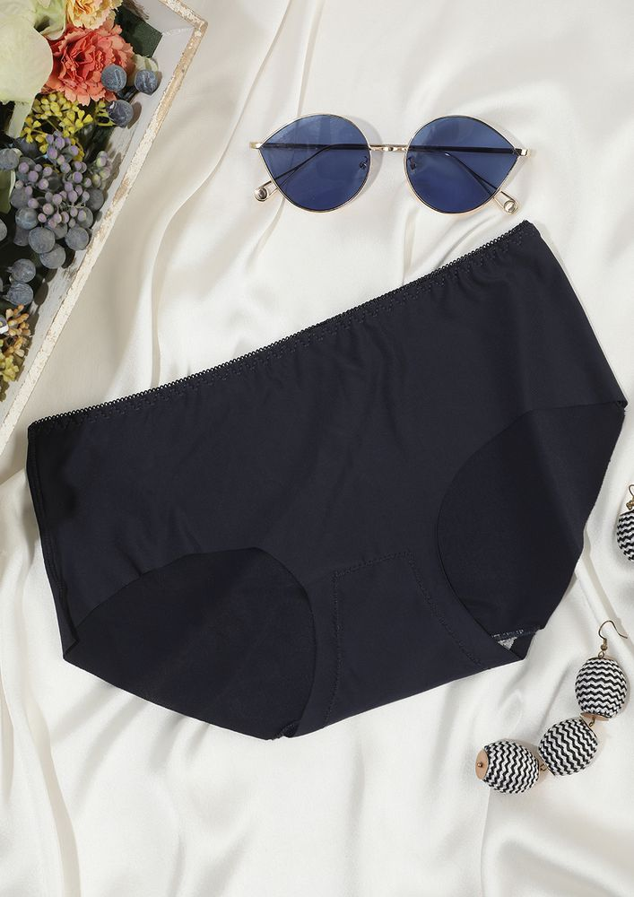 SEAMLESS MID WAIST HIPSTER IN NAVY