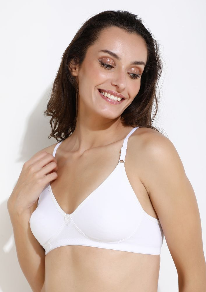 DELICATELY YOURS WHITE NON PADDED NON WIRED BRA