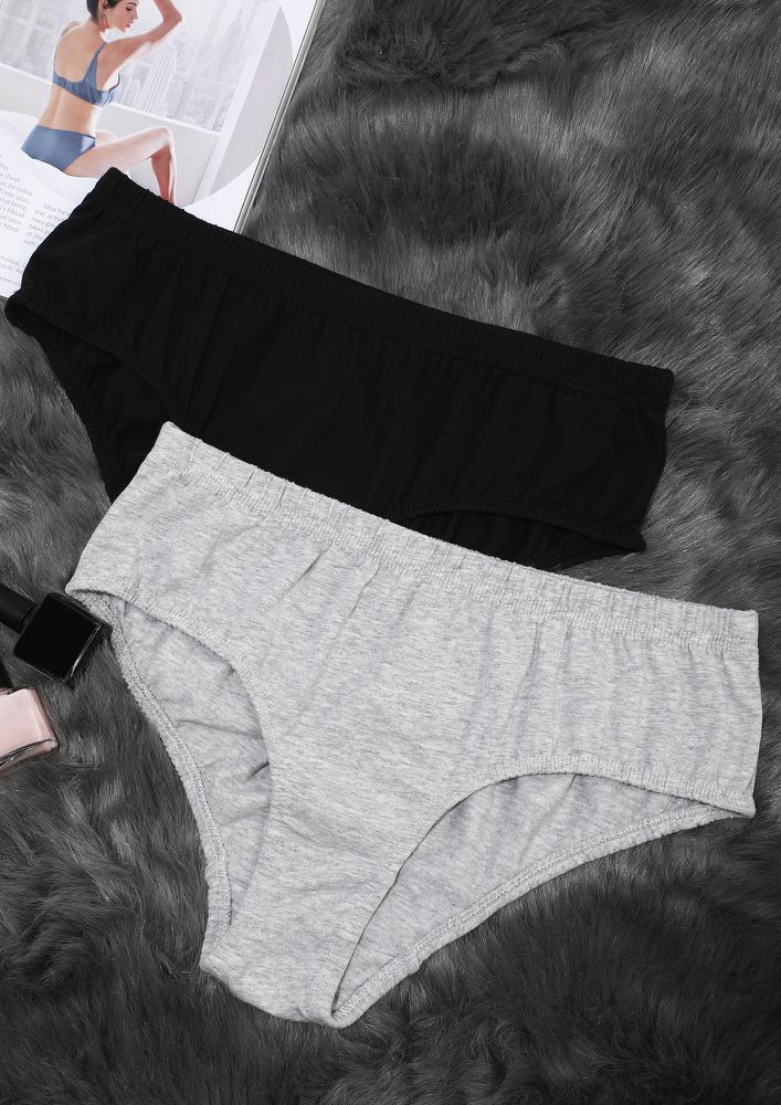 Grey Black Hipster With Inner Elastic