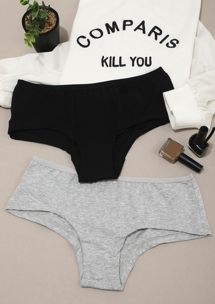 Everyday Appropriate Black & Grey Hipster Combo