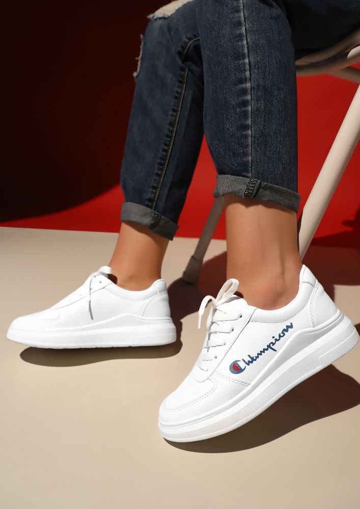 Buy READY TO RUN BLUE WHITE SNEAKERS