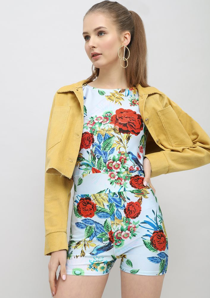 BLOOM FOR ME MULTICOLOR PLAYSUIT
