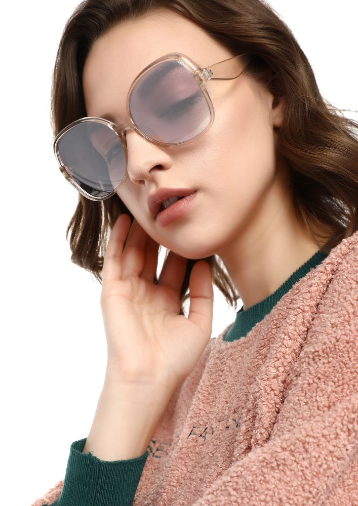 NEVER IN A HURRY SILVER RETRO SUNGLASSES