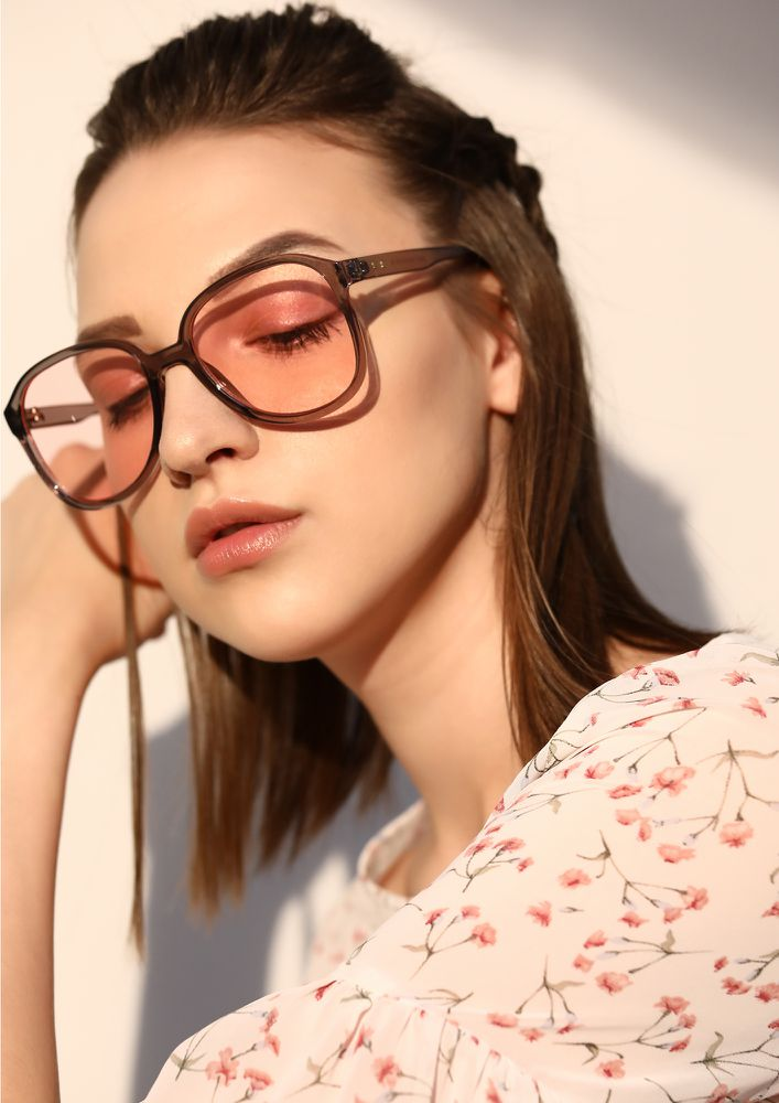 GOOD LIFE PINK SQUARE SUNGLASSES
