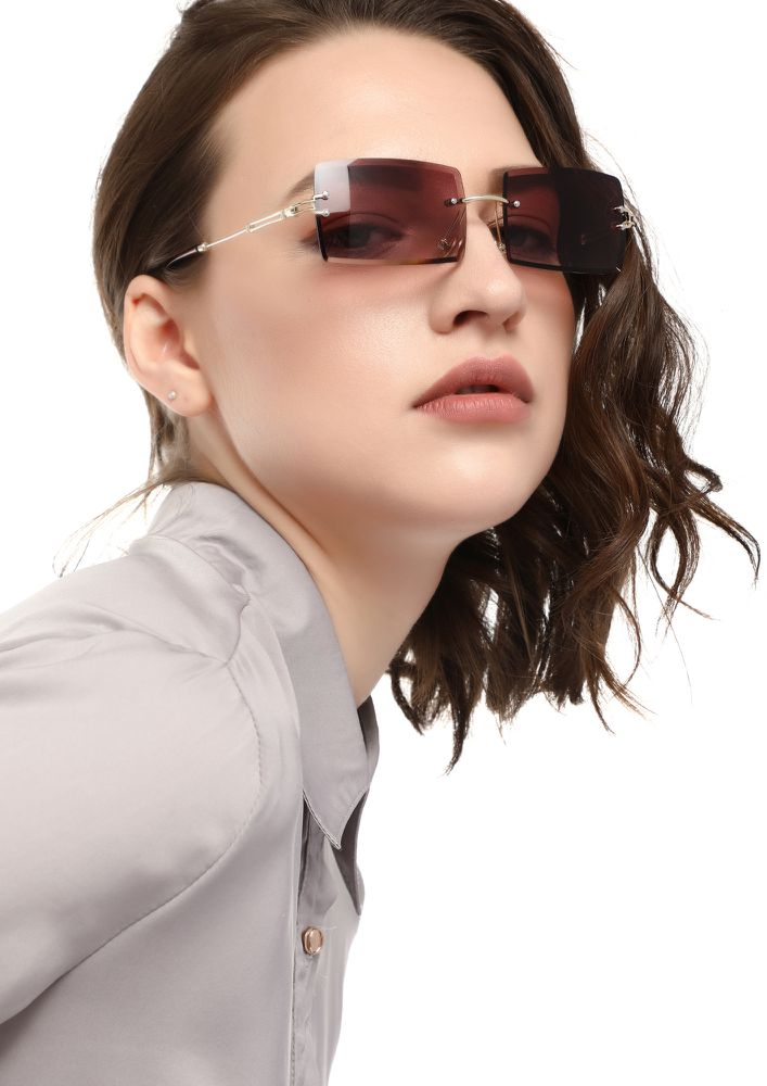 SUCH AWESOMNESS PURPLE SQUARE SUNGLASSES