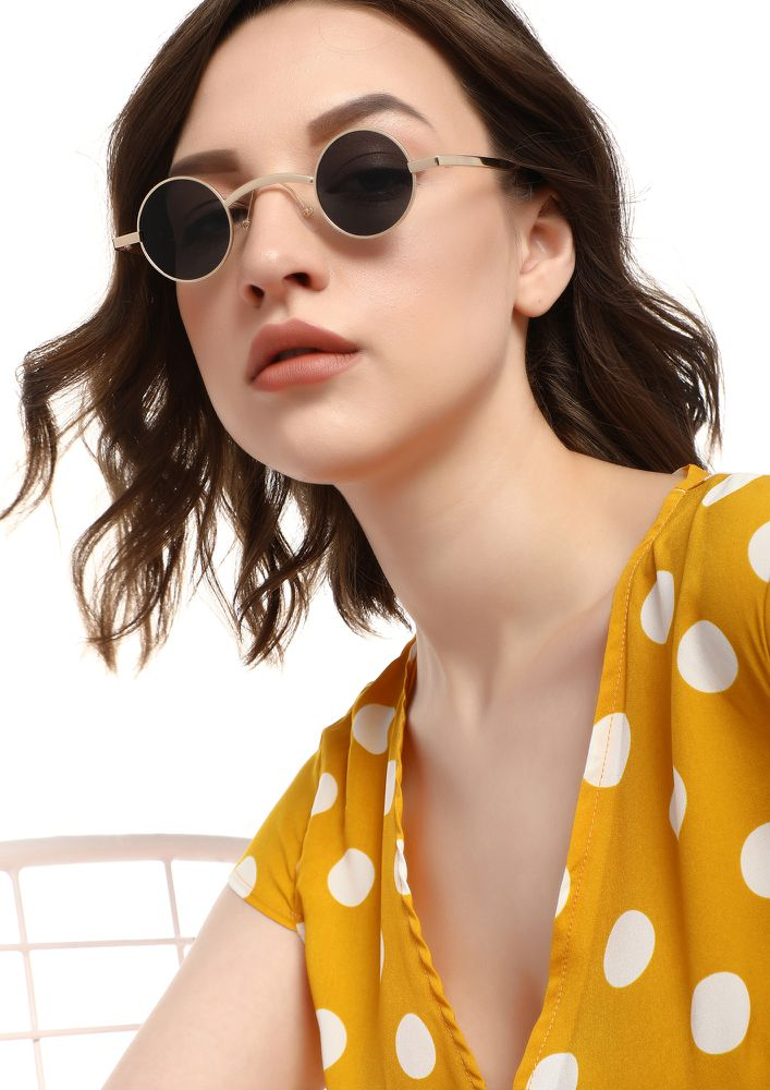 VICIOUS CIRCLE BLACK ROUND SUNGLASSES