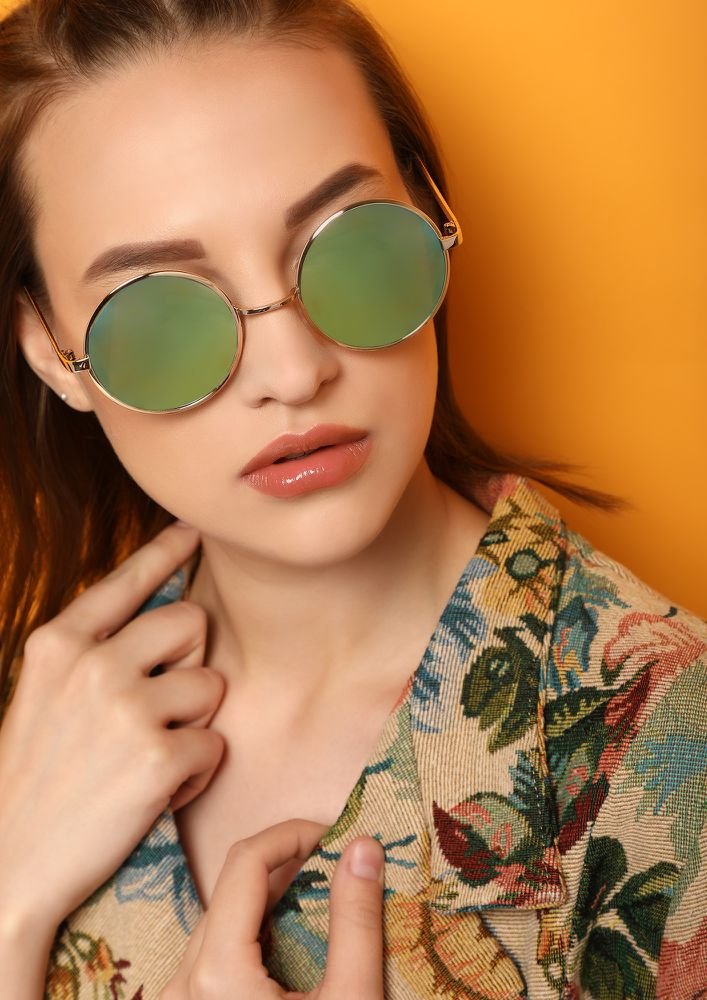 LIFE IS A CIRCLE GOLDEN ROUND SUNGLASSES