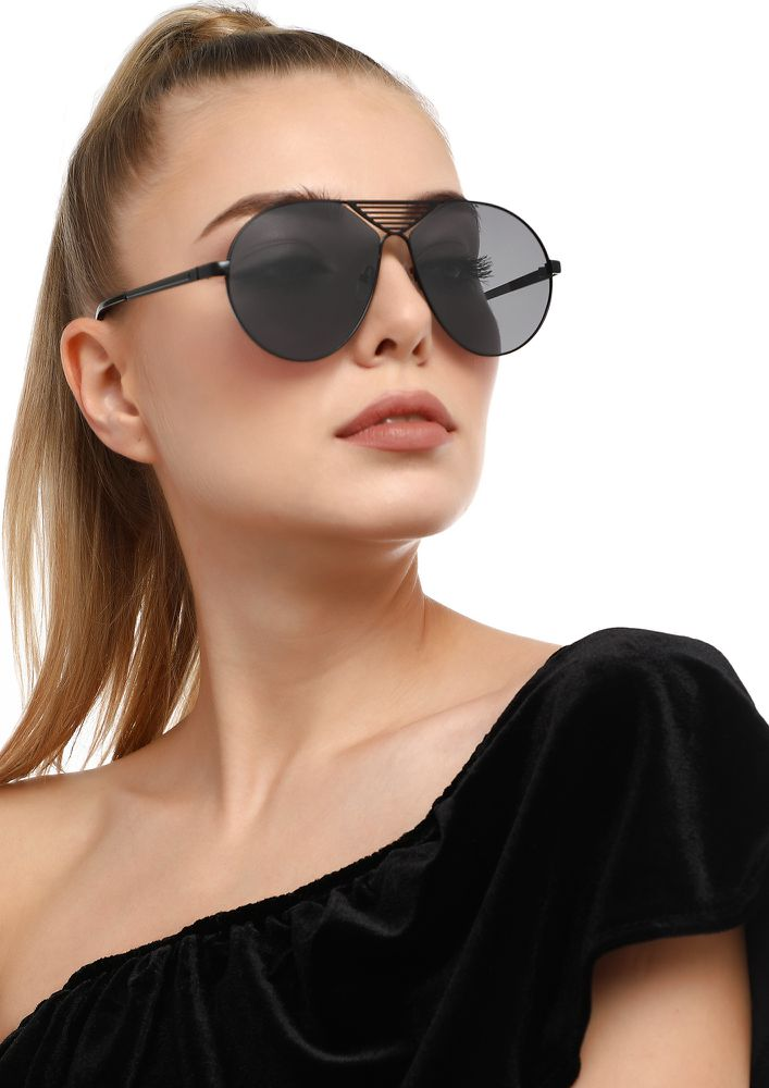 BIG DREAMS BLACK RETRO SUNGLASSES