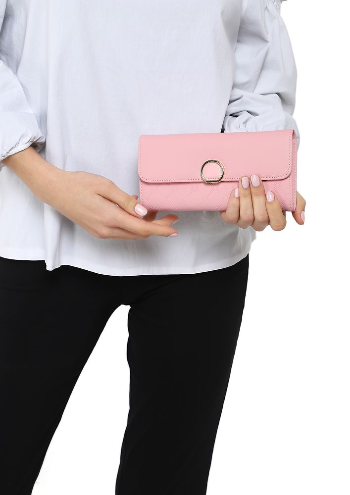 CONNECTING DOTS AND FEELINGS PINK WALLET