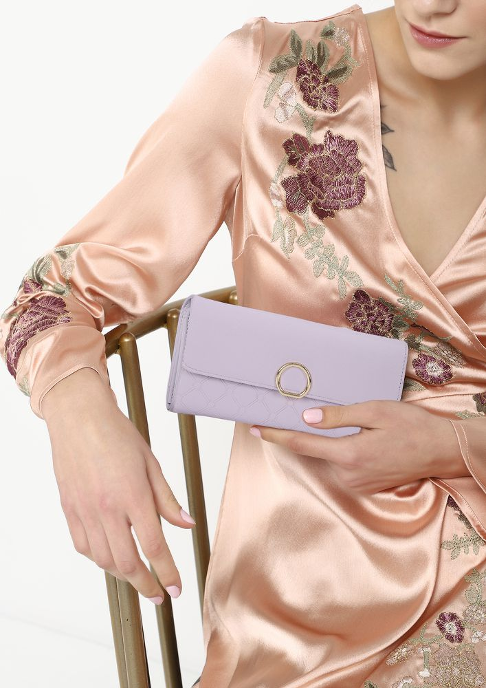 CONNECTING DOTS AND FEELINGS PURPLE WALLET