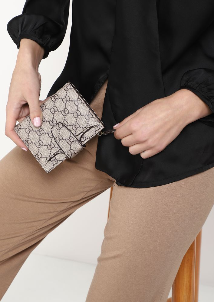 ON-DUTY WORTHY BEIGE WALLET WITH CARD HOLDER