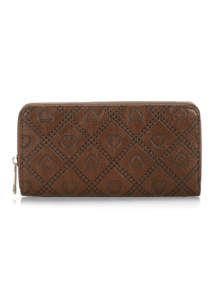 IN A HURRY BROWN WALLET