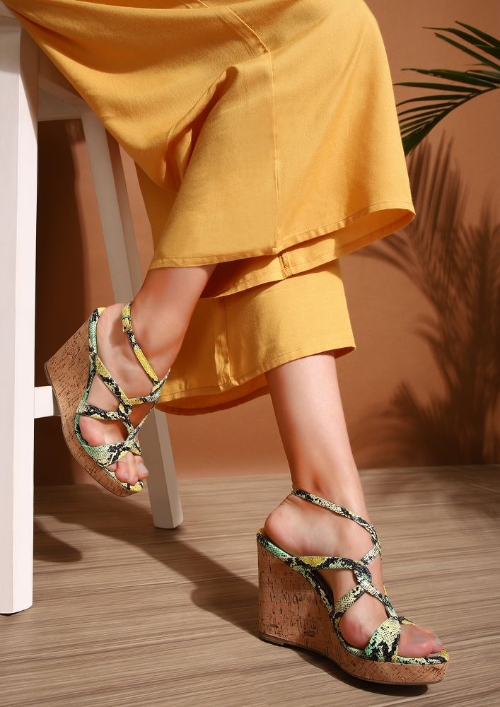 COLOR YOUR PYTHON GREEN YELLOW WEDGES