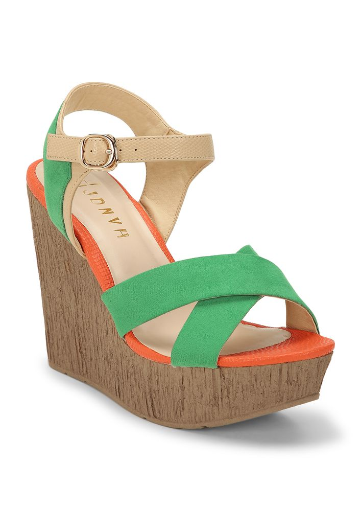 NO FUNNY BUSINESS GREEN WEDGES