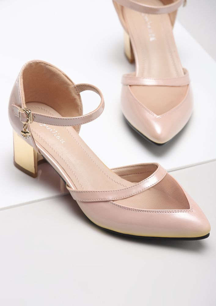 MY HAPPY SOLEMATE PINK HEELED SHOES