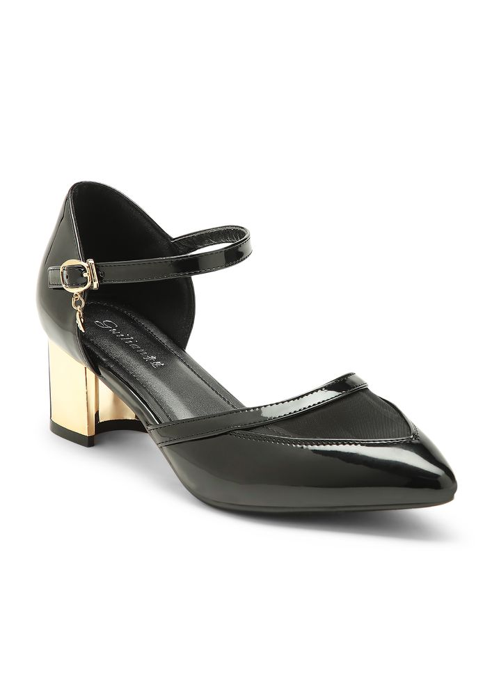 WHO'S YOUR BOSS  BLACK HEELED SANDALS